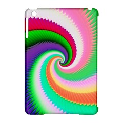 Colorful Spiral Dragon Scales   Apple Ipad Mini Hardshell Case (compatible With Smart Cover) by designworld65