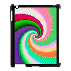 Colorful Spiral Dragon Scales   Apple Ipad 3/4 Case (black) by designworld65