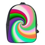 Colorful Spiral Dragon Scales   School Bags (XL)  Front