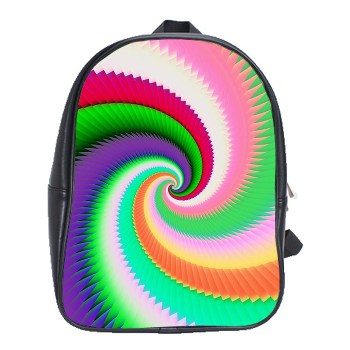 Colorful Spiral Dragon Scales   School Bags (XL)