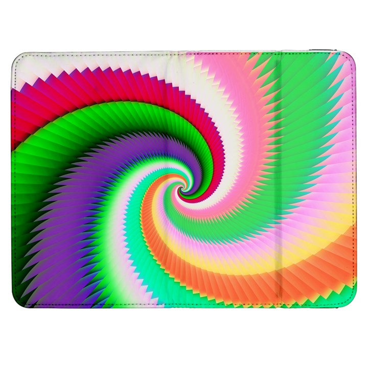 Colorful Spiral Dragon Scales   Samsung Galaxy Tab 7  P1000 Flip Case