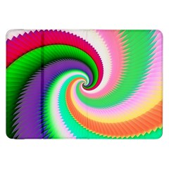 Colorful Spiral Dragon Scales   Samsung Galaxy Tab 8 9  P7300 Flip Case by designworld65