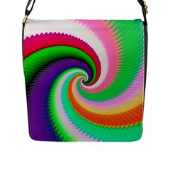 Colorful Spiral Dragon Scales   Flap Messenger Bag (l)  by designworld65