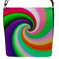 Colorful Spiral Dragon Scales   Flap Messenger Bag (s)