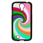 Colorful Spiral Dragon Scales   Samsung Galaxy S4 I9500/ I9505 Case (Black) Front