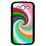 Colorful Spiral Dragon Scales   Samsung Galaxy Grand DUOS I9082 Case (Black) Front