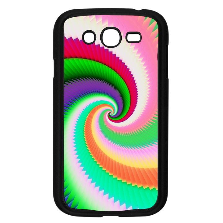 Colorful Spiral Dragon Scales   Samsung Galaxy Grand DUOS I9082 Case (Black)