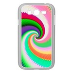 Colorful Spiral Dragon Scales   Samsung Galaxy Grand DUOS I9082 Case (White) Front