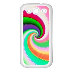 Colorful Spiral Dragon Scales   Samsung Galaxy S3 Back Case (white) by designworld65