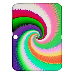 Colorful Spiral Dragon Scales   Samsung Galaxy Tab 3 (10 1 ) P5200 Hardshell Case  by designworld65