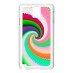 Colorful Spiral Dragon Scales   Samsung Galaxy Note 3 N9005 Case (White) Front