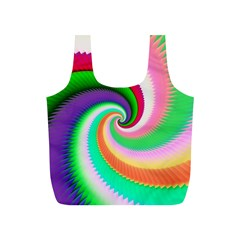 Colorful Spiral Dragon Scales   Full Print Recycle Bags (s)  by designworld65