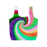 Colorful Spiral Dragon Scales   Full Print Recycle Bags (S)  Front