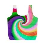 Colorful Spiral Dragon Scales   Full Print Recycle Bags (M)  Back