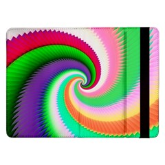 Colorful Spiral Dragon Scales   Samsung Galaxy Tab Pro 12 2  Flip Case by designworld65