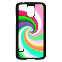 Colorful Spiral Dragon Scales   Samsung Galaxy S5 Case (black) by designworld65