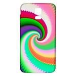 Colorful Spiral Dragon Scales   Samsung Galaxy S5 Back Case (White) Front