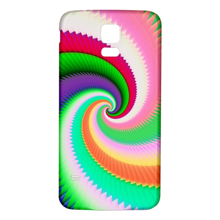 Colorful Spiral Dragon Scales   Samsung Galaxy S5 Back Case (White)