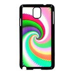 Colorful Spiral Dragon Scales   Samsung Galaxy Note 3 Neo Hardshell Case (Black) Front