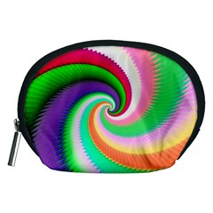 Colorful Spiral Dragon Scales   Accessory Pouches (medium)  by designworld65