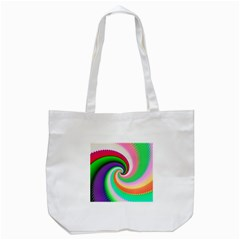 Colorful Spiral Dragon Scales   Tote Bag (white) by designworld65
