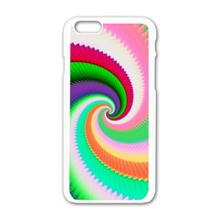 Colorful Spiral Dragon Scales   Apple Iphone 6/6s White Enamel Case by designworld65