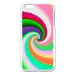 Colorful Spiral Dragon Scales   Apple iPhone 6 Plus/6S Plus Enamel White Case Front