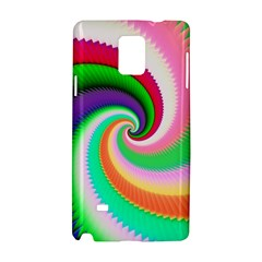 Colorful Spiral Dragon Scales   Samsung Galaxy Note 4 Hardshell Case by designworld65