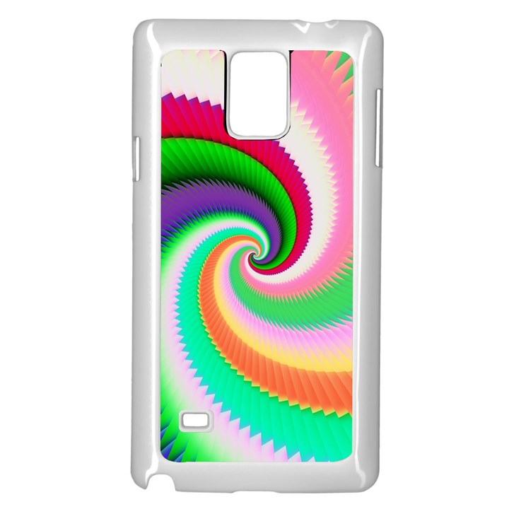 Colorful Spiral Dragon Scales   Samsung Galaxy Note 4 Case (White)