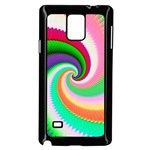 Colorful Spiral Dragon Scales   Samsung Galaxy Note 4 Case (Black) Front