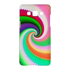 Colorful Spiral Dragon Scales   Samsung Galaxy A5 Hardshell Case  by designworld65