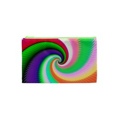 Colorful Spiral Dragon Scales   Cosmetic Bag (xs) by designworld65