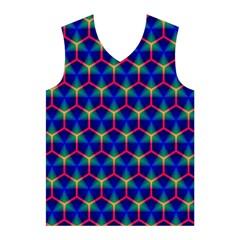 Honeycomb Fractal Art Men s Basketball Tank Top by Zeze