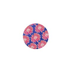 Pink Daisy Pattern 1  Mini Magnets by DanaeStudio