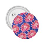 Pink Daisy Pattern 2.25  Buttons Front