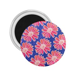Pink Daisy Pattern 2 25  Magnets
