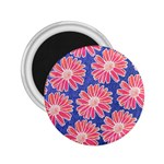 Pink Daisy Pattern 2.25  Magnets Front