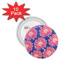 Pink Daisy Pattern 1.75  Buttons (10 pack) Front