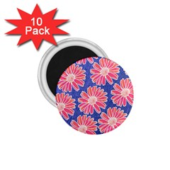 Pink Daisy Pattern 1 75  Magnets (10 Pack)  by DanaeStudio