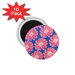 Pink Daisy Pattern 1.75  Magnets (10 pack)  Front