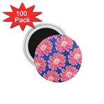 Pink Daisy Pattern 1.75  Magnets (100 pack)