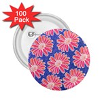 Pink Daisy Pattern 2.25  Buttons (100 pack)