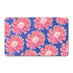 Pink Daisy Pattern Magnet (Rectangular) Front