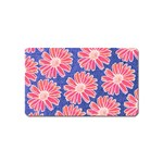 Pink Daisy Pattern Magnet (Name Card)