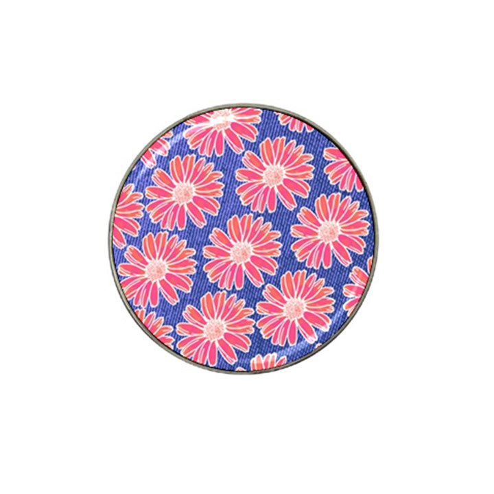 Pink Daisy Pattern Hat Clip Ball Marker (4 pack)