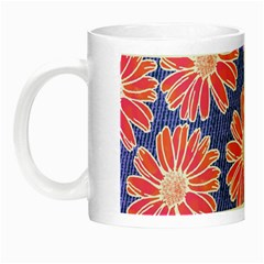 Pink Daisy Pattern Night Luminous Mugs by DanaeStudio