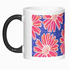 Pink Daisy Pattern Morph Mugs by DanaeStudio