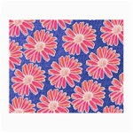 Pink Daisy Pattern Small Glasses Cloth Front