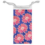 Pink Daisy Pattern Jewelry Bags Back