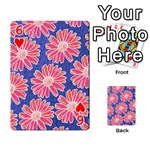 Pink Daisy Pattern Playing Cards 54 Designs  Front - Heart6